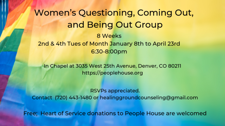 Women's Questioning/Coming Out/Being Out group